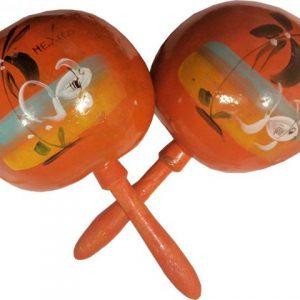 Multicolor Maraca Gourd, Multicolor Maraca Gourd, orangegourd_maraca
