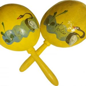 Multicolor Maraca Gourd, Multicolor Maraca Gourd, yellowgourd_maracam