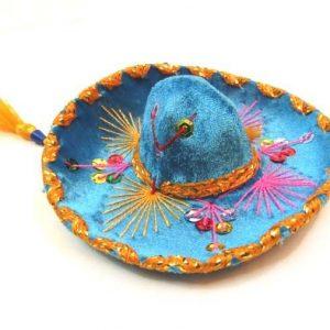 Charro Hat Mini | Mexican Mariachi Velvet Charro Hat | Vel-Mex