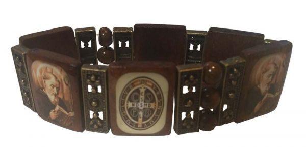 Wood Saint Bracelet, woodenbracelet