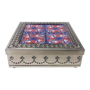 Tin Jewelry Box, tinjwe4tile1