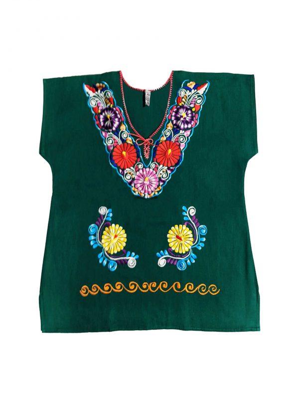Mexican Kimono Style Blouse, kimverdel