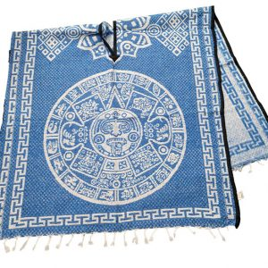 Aztec Calendar Poncho Front