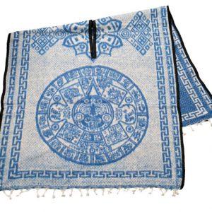 Aztec Calendar Poncho Back